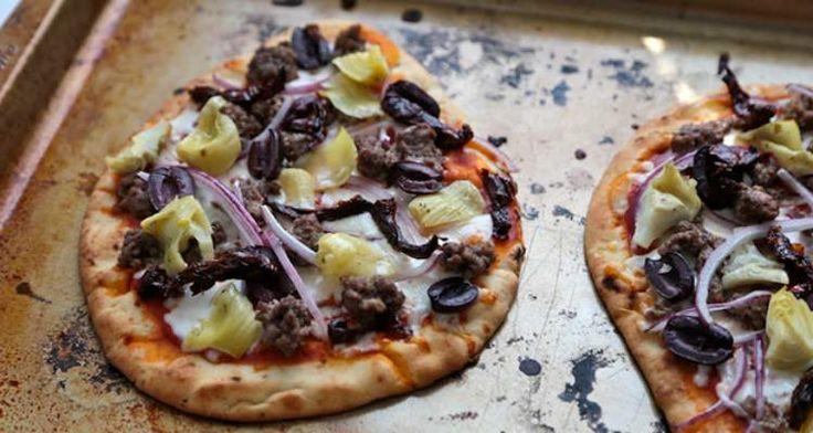 Verse pizza zonder kneden