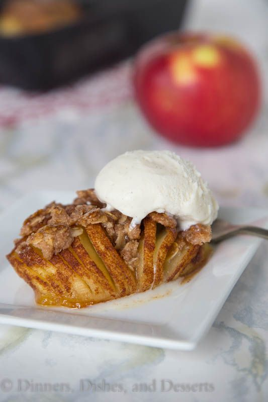 Hasselback Apples - a fun twist on apple crumble, that will be sure to impress. Definitely a fun way to enjoy apples this year!