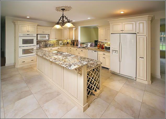 White Kitchen With White Appliances