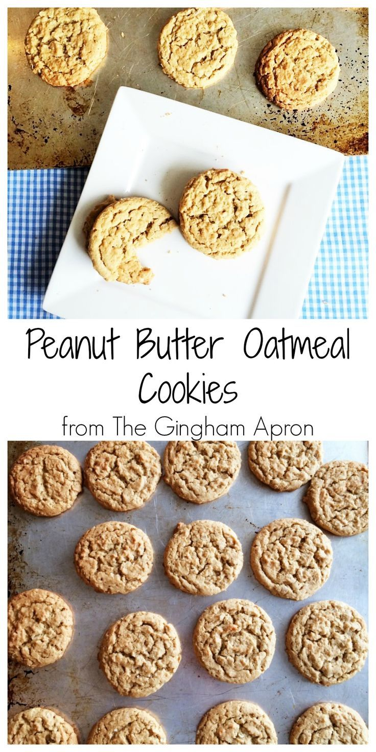 Peanut Butter and Oatmeal Cookies! Combine two classics to make the perfect cookie!