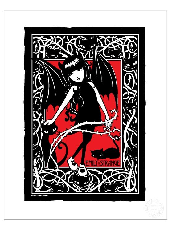Emily The Strange - Nightwalker Print