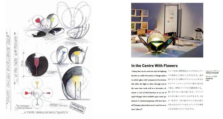In the Centre with Flowers #design #lamp #flowers
