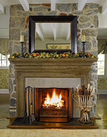 Warm And Homey · Mantel IdeasFireplace ...