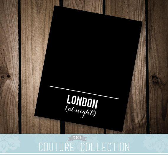 Printable 8x10 London Post Card Parks and Rec by thecouturecollection, $5.00  #parksandrec #parksandrecreation #londonatnight #digitalprint #DIYprint #etsy #quotes #ronswanson #parksandrecreationquote