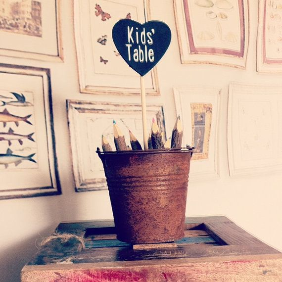 Kids Table Wedding Decor Rustic Wedding by DownInTheBoondocks, $20.00