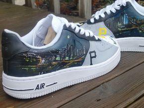 premium selection 7bd5d c2ec4 Pittsburgh-Skyline-Custom-Air-Force-Ones