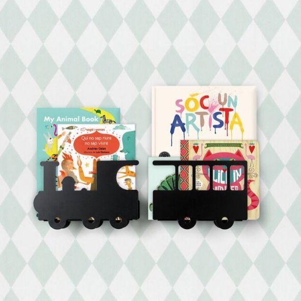 Estantería infantil en forma de tren para libros - Minimoi