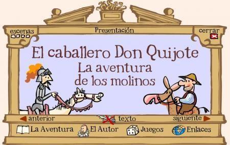 Don Quijote interactivo para niños, Divino!!