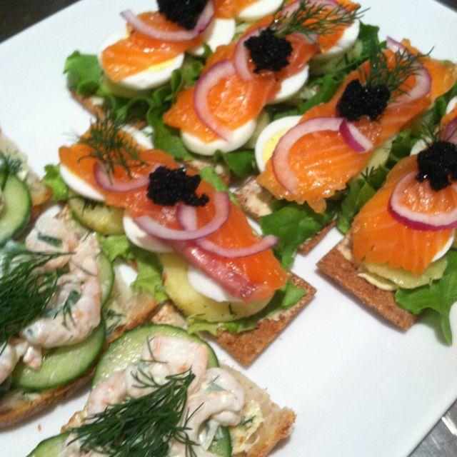 Scandinavian inspired open faced sandwiches