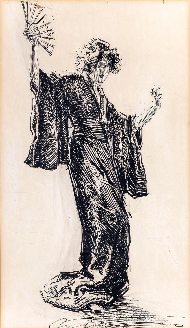 Charles Dana Gibson (1867-1944): Japonette written by Robert W. Chambers - circa 1912