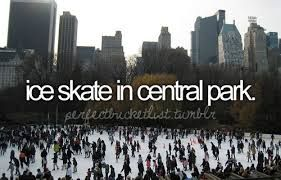 Ice Skate in Central Park - This is definitely getting done if I visit New York