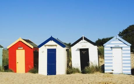 love this image of beach huts taken from the Telegraph