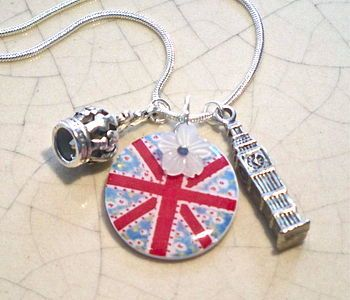 Union Jack Charm Necklace