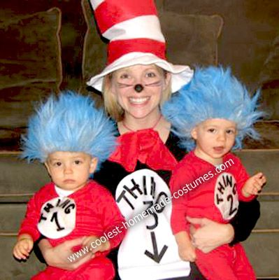 cool homemade cat in the hat costume - Cat In The Hat Halloween Costume Ideas