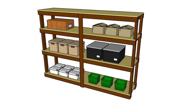 Best 25 garage shelving plans ideas on pinterest garage for 2x4 cabinet plans