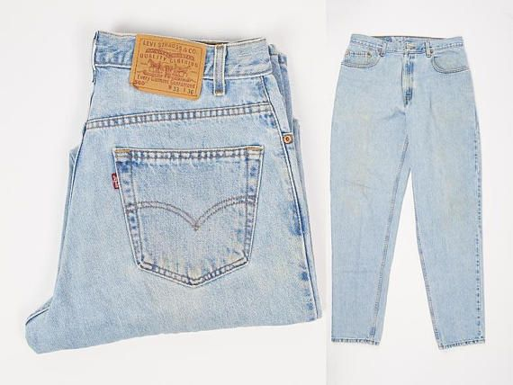 Levi's 560 Jeans Size 34 - Vintage Levi's Jeans 34W 36L - Loose Fit - Tapered Leg - Levi's Jeans Light Wash 34 x 36 - Loose Fit Jeans Men