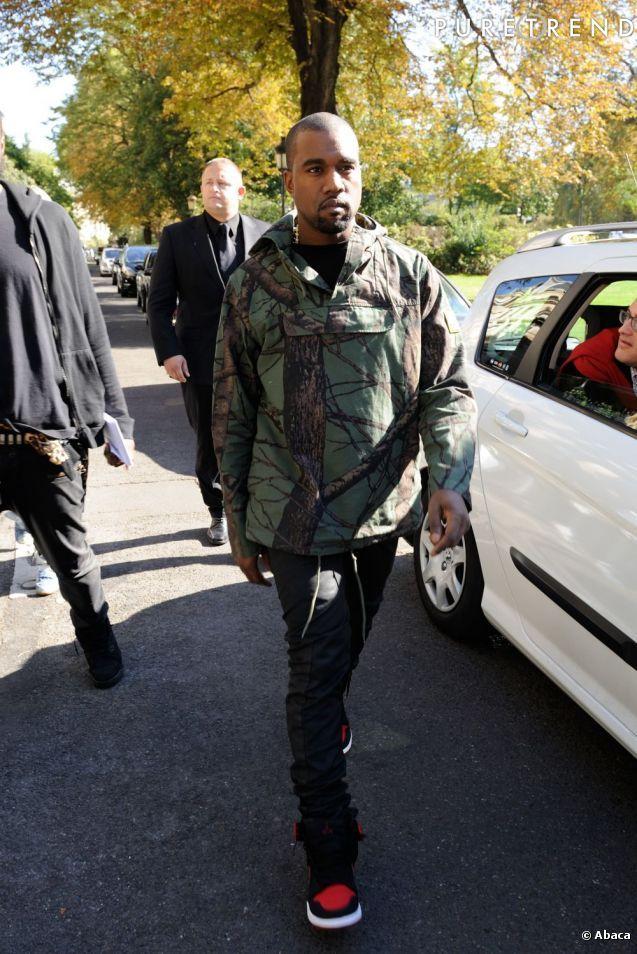 Veste tendance camouflage militaire pour Kanye West