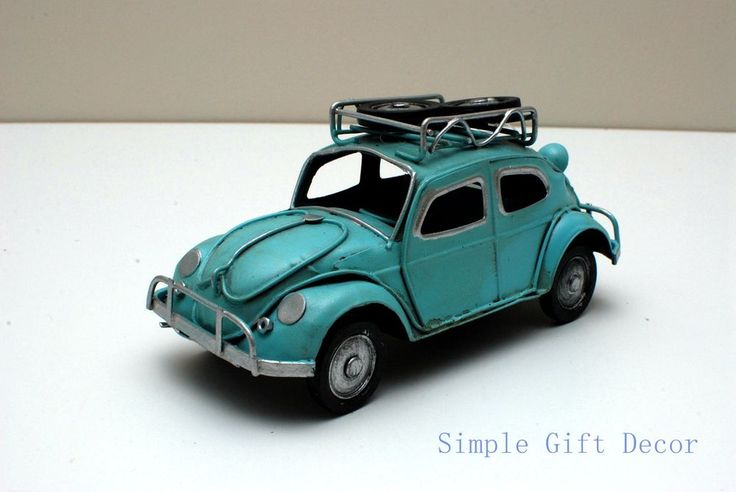 Metal Vintage Car model Blue 1017