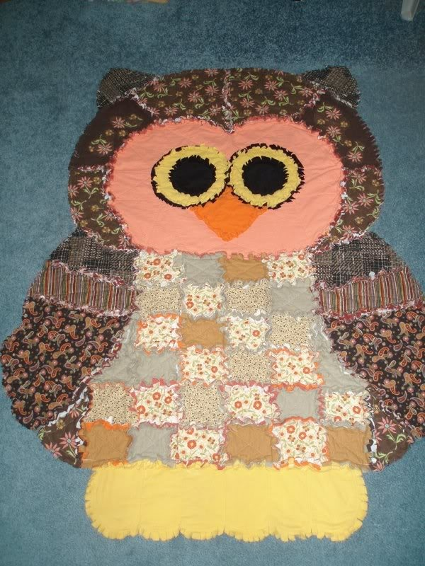 Rag Quilt Owl Pattern : Best 25+ Owl quilt pattern ideas on Pinterest Owl quilts, Owl baby quilts and Children s quilts
