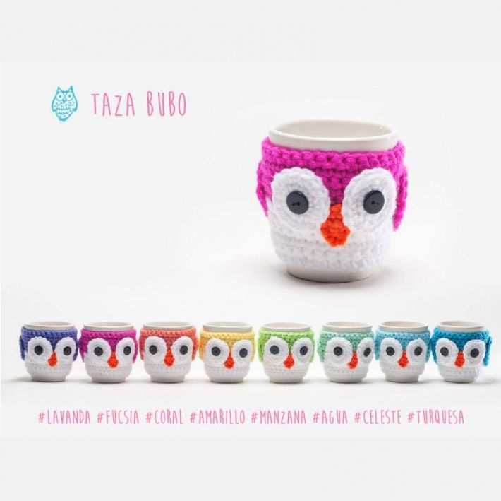 Tazas Buho | cubre tazas crochet | Pinterest | Croché, Ganchillo y Tazas