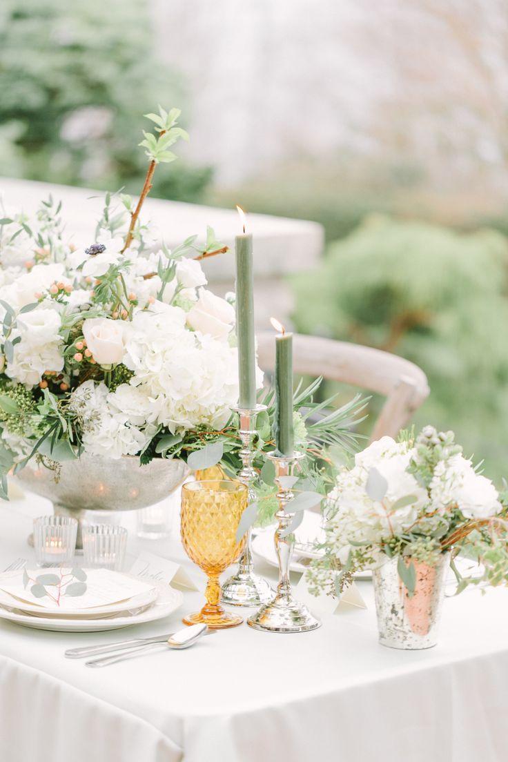 Wedding Dress: Bisou Bridal - http://www.stylemepretty.com/portfolio/bisou-bridal Floral Design: Sunflower Florist - http://www.stylemepretty.com/portfolio/sunflower-florist Photography: Kim James Photography - kim-james.com   Read More on SMP: http://www.stylemepretty.com/canada-weddings/2016/08/03/mint-cream-mustard-wedding-color-palette/