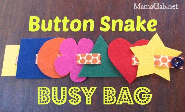 Button Snake Busy Bag