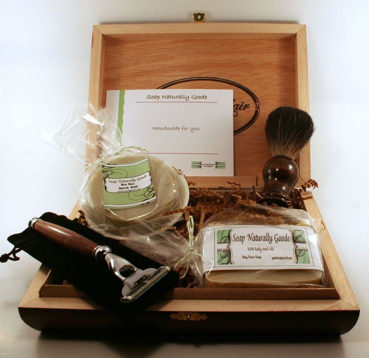 Men's Shave Kit, Men Gifts with Black Badger Brush, #Etsy Gifts, Men's Grooming Hand Turned Mach 3 Razor, Personalalized by SoapNaturallyGoode on Etsy https://www.etsy.com/listing/202196086/mens-shave-kit-men-gifts-with-black