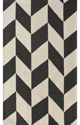 Chevron charcoal rug -- Oh I want this rug so badly. It's on back order until May 22. Such a long time to wait!