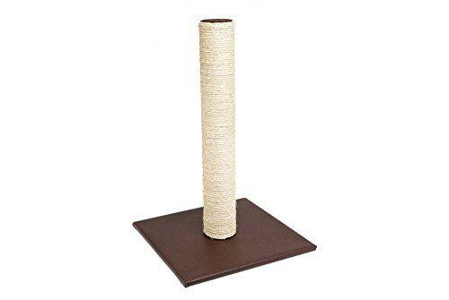 Aus der Kategorie Kratzmöbel  gibt es, zum Preis von EUR 17,80  <p>Die attraktive Kratzsäule Skai unterstützt die artgerechte Krallenpflege von Wohnungskatzen und sieht dabei auch noch richtig edel aus. Die Bodenplatte, sowie die Oberseite des Sisalstammes, sind mit Kunstleder bezogen. Die große Bodenplatte gewährt einen sicheren Stand.<br><br>Maße: ca. 38 x 38 x 59 cm<br>Farbe: braun</p>