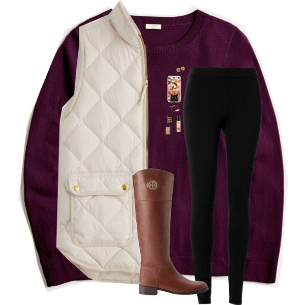 J Crew Fall Outfit Contest by emmalw02 on Polyvore featuring polyvore, fashion, style, J.Crew, Max Studio, Tory Burch, QVC, Kendra Scott, Casetify and NARS Cosmetics