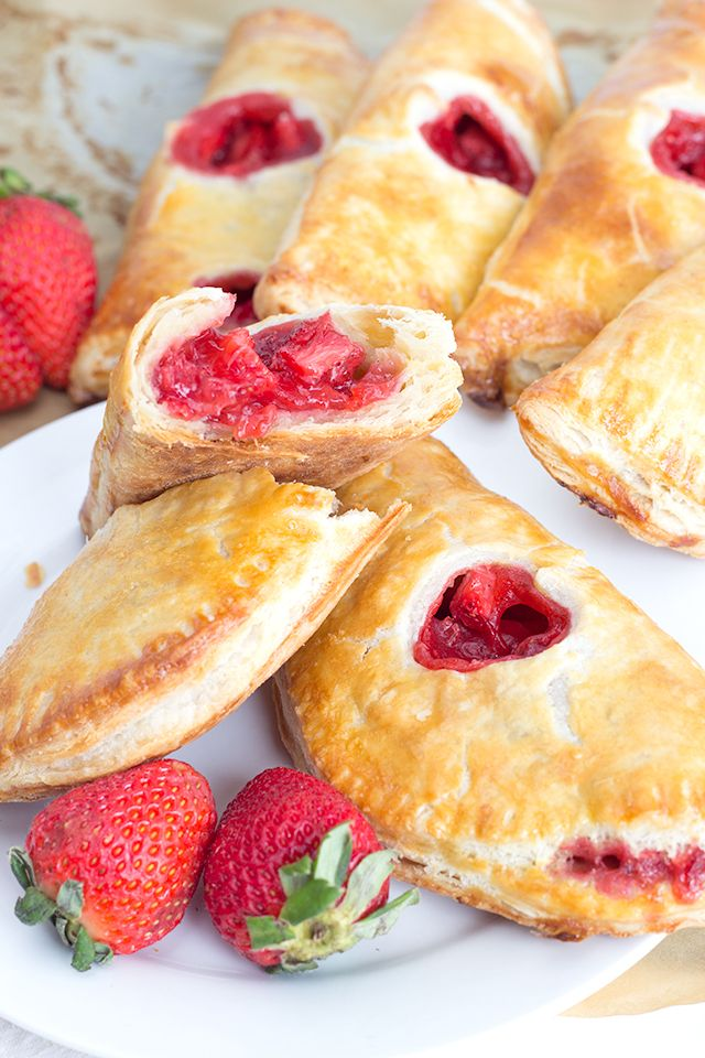 Pies fit for the hand. Throw together some delicious strawberry hand pies to munch on for dessert. Add a little heart and you have the cutest V-Day pies.