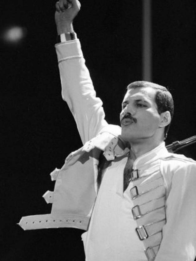 Bio je pevač grupe Queen (kraljica), i zaista je izgledao kao suvereni vladar na bini. Publika je skoro hipnotisano gledala njegove energične pokrete i uživala u njegovom moćnom glasu.  http://punjenipaprikas.com/fredi-merkjuri-du%C5%A1-obojena-kao-krila-leptira