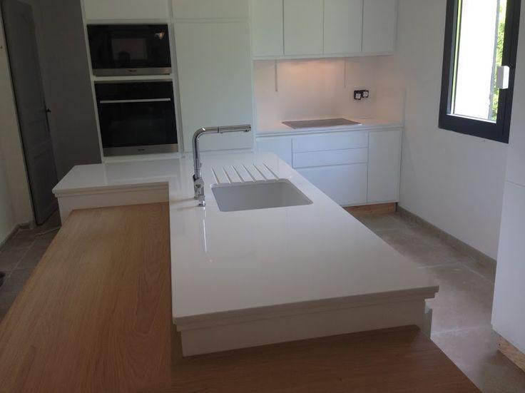 Plan de travail en quartz blanc 20170722114214 for Plan de travail cuisine quartz blanc