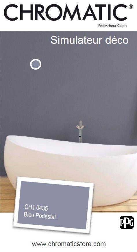 Créez votre propre mise en #couleur sur le #simulateur déco avec le Bleu #Podestat CH1 0435. www.chromaticstore.com