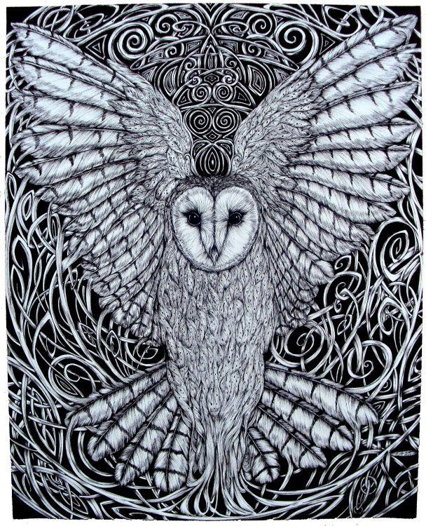 Arianrhod | The white lady, Arianrhod - Drawing, 40x50 cm ©2014 par Alain Daniel ...