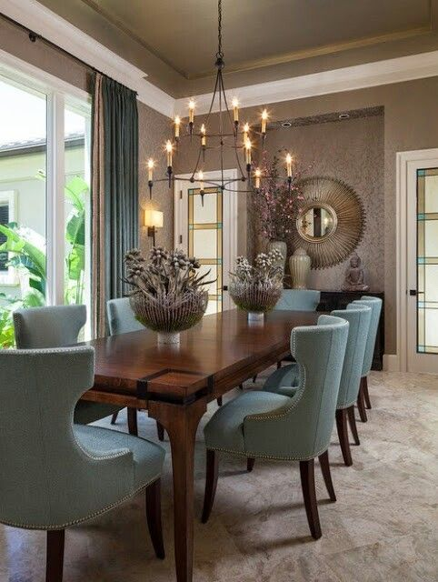 Love the color scheme of the chairs  Pretty Decor Ideas  Dining Room. Best 25  Formal dining decor ideas only on Pinterest   Dinning