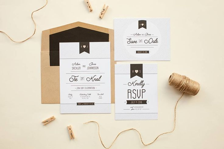 Do you share our obsession with typography? You'll love Patrizia's wedding invitation set