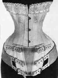 "NOT MATERNITY This C. 1884 Madame Cave's Patent Corset is for ""Ladies inclined to embonpoint"" meaning larger figures. For more information see ""Foundations of Fashion: The Symington Collection, Corsetry from 1865 to the Present Day"" by Christopher Page ISBN 0-85022-089-0"