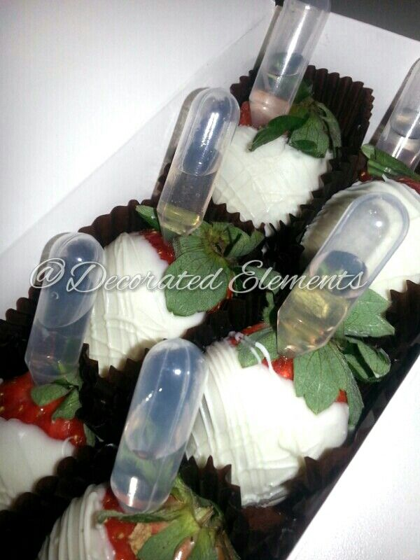 White Chocolate Covered Strawberries infused with your favorite alcohol