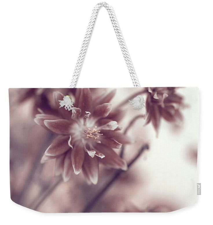 "Eternal Flower Dreams  Weekender Tote Bag (24"" x 16"") by Jenny Rainbow.  The tote bag is machine washable and includes cotton rope handle for easy carrying on your shoulder.  All totes are available for worldwide shipping and include a money-back guarantee."