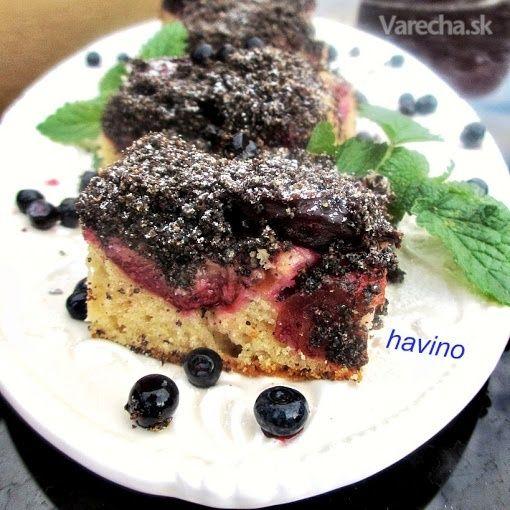Slivkový koláč s makovou posýpkou (fotorecept)