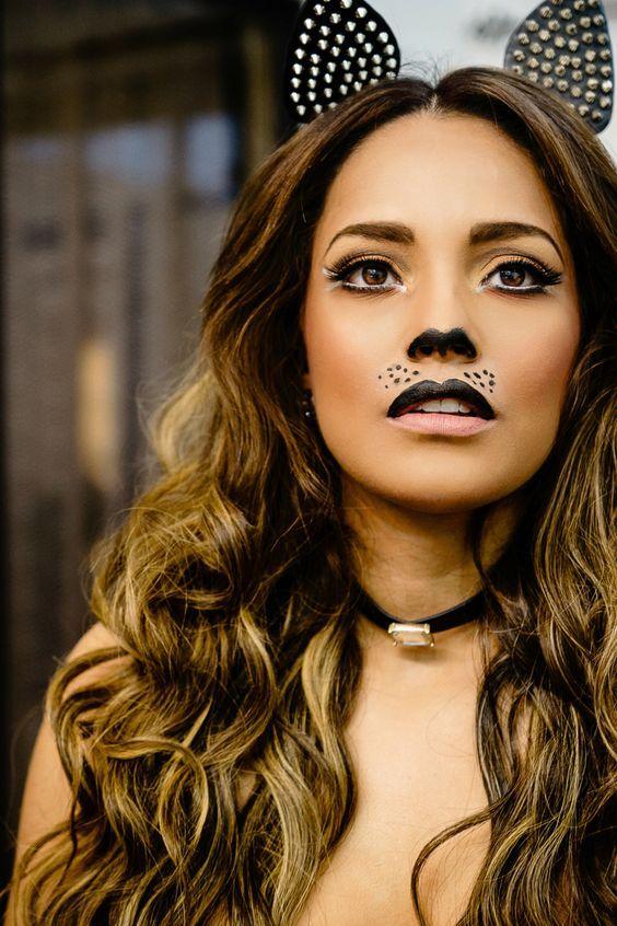 Priscilla Eslo - Sexy Cat Halloween Makeup
