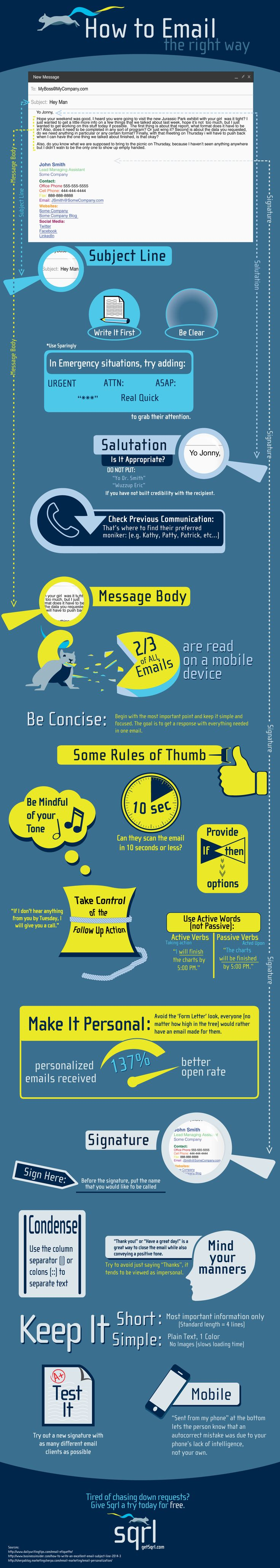 How to Email the Right Way #infographic #Email #Marketing