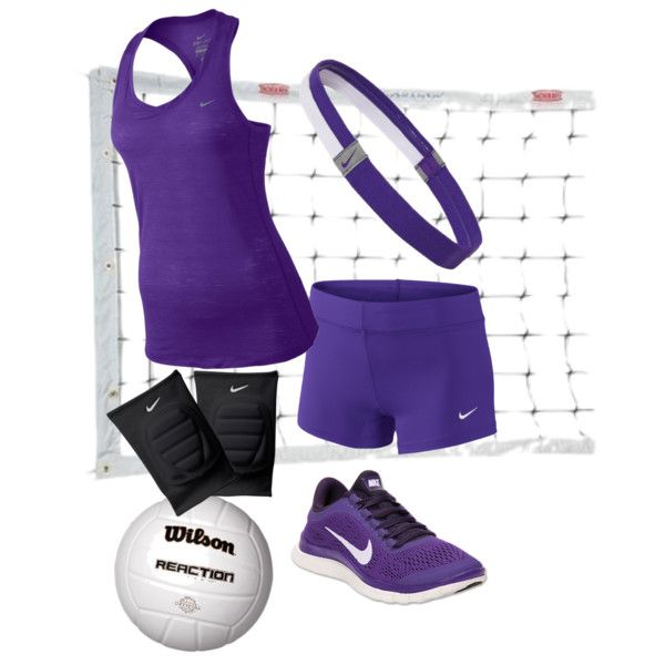Purple NIKE volleyball outfit. Loooove the purple!!!! :):):):)
