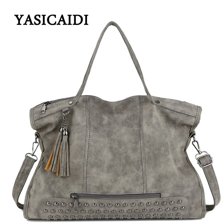 Ladies Leather Large Capacity Fashion Tassel Shoulder Handbag //Price: $39.95 & FREE Shipping //     #style