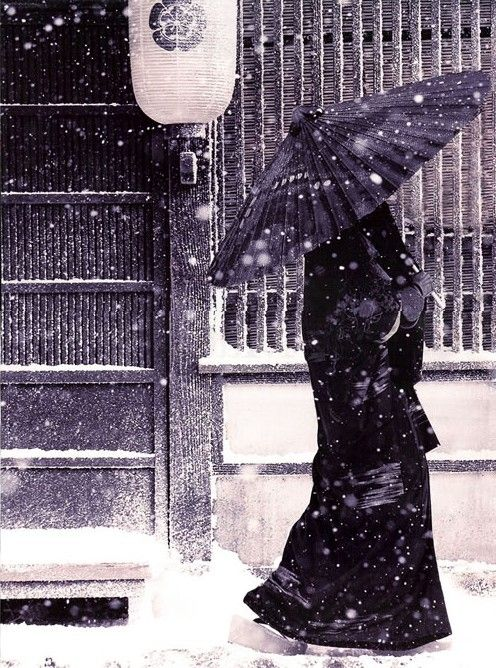 Snowy Winter Day - Japanese Muslimah