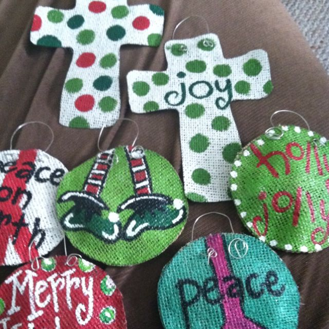 Burlap Craft Ideas For Christmas Part - 43: Ornaments Made From Burlap. Burlap OrnamentsPainted Christmas  OrnamentsFabric OrnamentsBurlap CraftsBurlap ProjectsCraft ...