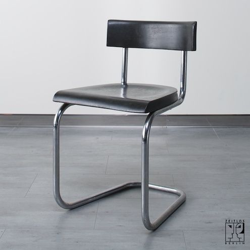 cantilever tubular steel chair b 263 by mart stam for thonet in bauhaus design bauhaus. Black Bedroom Furniture Sets. Home Design Ideas