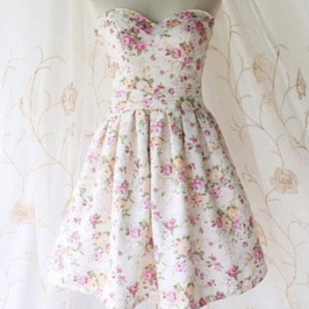 Dress: flowered, colorful, cute, hippie, hipster, girly, short ...
