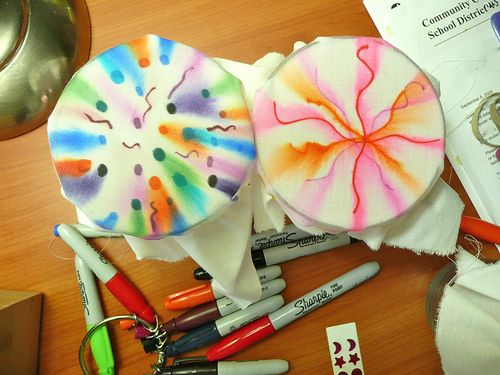 Sharpie Tie Dye | Blogged Draw on fabric with Sharpies and d… | Flickr